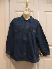NWT Vintage Forenza Denim Jean Jacket Size Women's Button Front 4 Pockets
