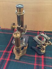 VINTAGE BRASS MICROSCOPE OF R.J. BECK LONDON VERY OLD