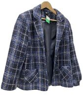 Ladies HONOR MILLBURN hacking style Jacket UK20 check front button pockets multi