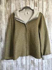 DKNY Pure Coated Hoodie Zip Up Hooded Jacket Coat Sweatshirt M Medium * USED *