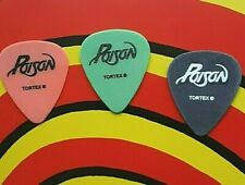 POISON (3) C.C DeVille, B. Michaels, B. Dall 2006 20 Years of Rock guitar picks