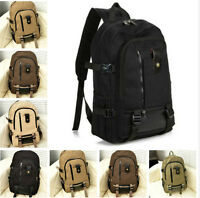 Mens Boys Girls Backpack Rucksack School Cycling Travel Laptop Work Bag New Lot