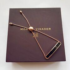 New Monica Vinader Bracelet Baja Rose Gold Vermeil Black Onyx Bracelet