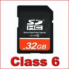 32GB SD HC 32 GB Class 6 Secure Digital Memory Card NEW