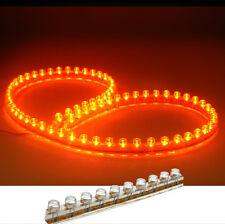 2PCS 48CM ORANGE LED LIGHT STRIP SILICON 12V WATERPROOF