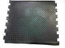 BLACK RUBBER JOIN TOGETHER ANTI - FATIGUE MIDDLE MAT , NEW