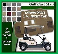Yamaha Drive Golf Cart Floor Mat One Piece Front Carpet Mat - 16 Colors Avail.