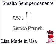G871 SMALTO SOAK SEMIPERMANENTE LISA GEL POLISH MADE USA Bianco French NAIL CAS