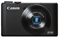 Canon PowerShot S110 12.1MP Digital Camera - black 100-200 SHUTTER COUNT