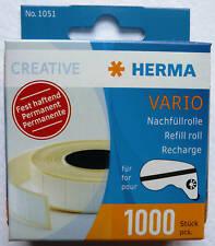 HERMA VARIO H1051 REFILL SELF ADHESIVE MOUNTS 1000pcs