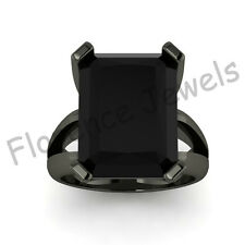 Marquise Black Moissanite Vintage Bridal Wedding Engagement Ring in 925 Silver