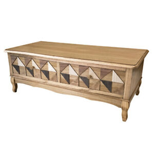 Casamoré Marrakesh Wooden 2 Drawer Coffee Table