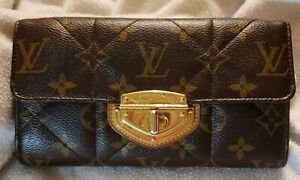 AUTH Louis Vuitton Long Wallet Portefeuille Sarah Etoile