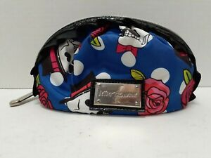 Betsey Johnson Skulls & Rose's Makeup Bag With Ruffle Along Zipper. [Pre~Owned].