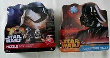 """2 Star Wars Collector Tin Puzzles Darth Vader """"THe Force Awakens"""" 1000 Pcs New"""