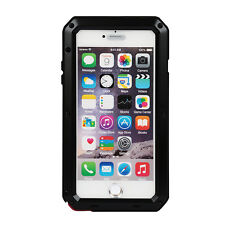 Shockproof Aluminum Glass Metal Case Cover For iPhone 6 6S & 7 Plus 5 5S SE