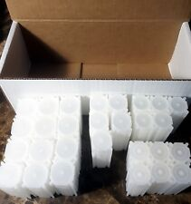 Custom Box of 25 Coinsafe Stackable Durable Hard Plastic Coin Tubes!!