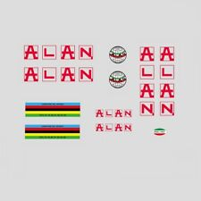 Alan Bicycle Frame Stickers - Decals - Transfers: Red. n.100