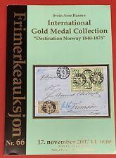 Svein Arne Hansen Destination Norway Collection, Frimerkeauksjon, Nov. 17, 2007