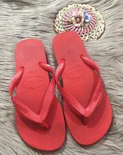 ** Havaianas Classic Flip Flops, Women's - Size 7/8  Red Solid
