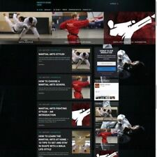MARTIAL ARTS STORE - Mobile Friendly Responsive Website Business For Sale