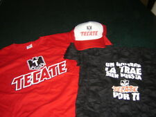 BEER TECATE T- SHIRTS and CAP camisetas gorra 3 item cerveza Mens Casual BEER