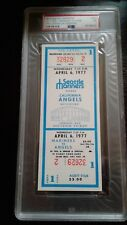 1977 Seattle Mariners 1st game ticket Psa graded Nmt 7-High grade