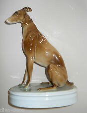 VINTAGE ZSOLNAY  - Figural GREYHOUND - Sculpture Statue HUNGARY