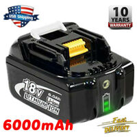 For Makita BL1860B BL1830B LXT Lithium Battery BL1850 18V 6.0Ah Compact Cordless