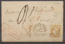 1875 Env 15c bistre Pour le Camp D'AVOR + AFFRANCHISSEMENT INSUFFISANT X1831