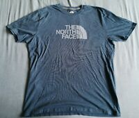 The North Face Men's Blue Logo Graphic T-Shirt Size XL Good Used Condition