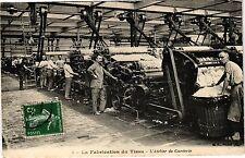 CPA La fabrication du tissu - L'atelier de carderie  (190543)