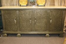 4-Door Credenza | Buffet | Sideboard GORGEOUS CUSTOM SILVER-FINISHED PIECE
