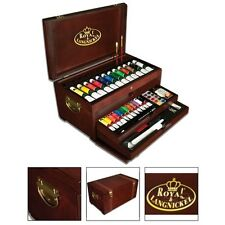 Painting Set For Adults Paint Supply Box Beginners Kit Kids Gifts Artists Wooden
