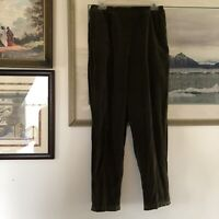 CP Shades Green Velvet Pull On Pants Sz M Lagenlook A2140