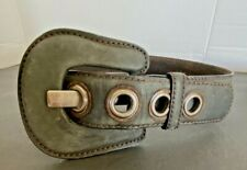"33/""-35/"" Classic Vintage Distressed Casual Jean Leather Belt Strap Dark Brow M"