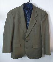 TIME PIECES Mens Khaki Plaid Blazer Sports Jacket Sz M-L VGC