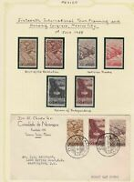 mexico  1938 mounted mint stamps  and cover ref r12722