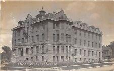 D49/ Mankato Minnesota Mn Real Photo RPPC Postcard 1909 Immanuel Hospital