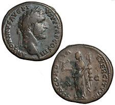 Brass sestertius of Antoninus Pius.  Concordia Exercituum.