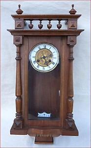 Art Nouveau Vienna Regulator Junghans Jugenstill 8 Days Movement Wall Clock 1900