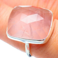 Rose Quartz 925 Sterling Silver Ring Size 7.5 Ana Co Jewelry R35419F