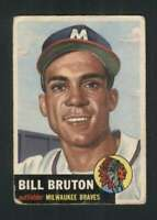 1953 Topps #214 Bill Bruton GVG RC Rookie Braves UER 88018
