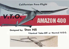 """Model Airplane Plans (FF): Amazon 400 61"""" wingspan for .19-.23 by Stan Hill"""