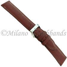 20mm Morellato Genuine Soft Calfskin Brown Stitched Padded Watch Band