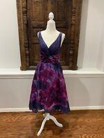 Lela Rose Purple Floral Dress Neiman Marcus Target Easter Floral Feminine Size 6