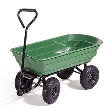 Carrello a vasca ribaltabile giardino ABS 4 ruote pneumatiche 250 kg *OFFERTA*!!
