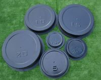 SET 6 pcs MOLDS casting CONCRETE WEIGHT PLATES  BARBELL DISCS OLYMPIC LIFTING