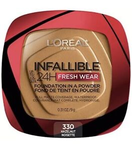 L'Oreal Infallible 24Hr Fresh Wear Foundation In A Powder Matte Hazelnut TIKTOK