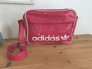Adidas Vintage Sporttasche Retro,Leder, 40 cm x 27 cm